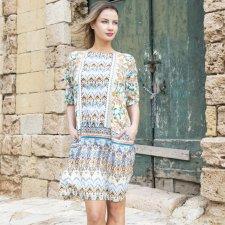LANZAROTE Contemporary dress in natural viscose