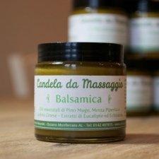 Candela da massaggio Balsamica: Burro Corpo Pino Mugo e Menta