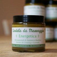 Candela da massaggio Energetica: Burro Corpo Ginseng e Guaranà