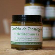 Candela da massaggio Mediterranea: Burro Corpo Arancio e Limone