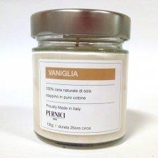 Candela Naturale 100% cera di soia alla Vaniglia