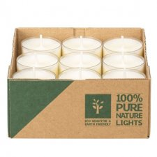 Candeline Tealight PURE NATURE in olio di colza - durata 7h
