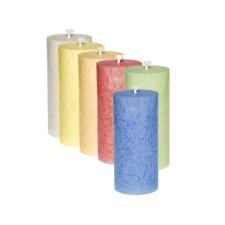 Candles cylindrical in vegetable stearin