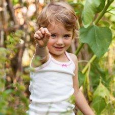 Canotta Victoria Naturale-Rosa in Eucalipto per bambine