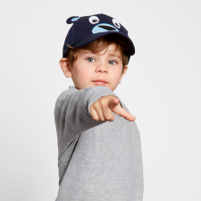 Cappellino con visiera Orso per bambini in Cotone Biologico Equosolidale