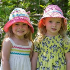 Cappellino Tulipani reversibile in cotone bio