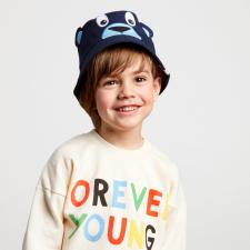 Cappellino pescatore Orso per bambini in Cotone Biologico Equosolidale