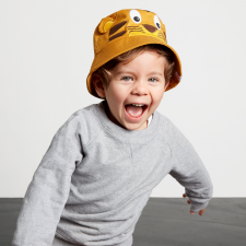 Cappellino pescatore Tigre per bambini in Cotone Biologico Equosolidale