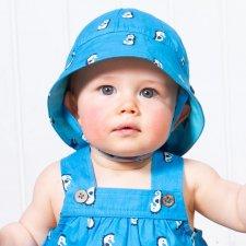 Cappellino reversibile Baby in cotone biologico