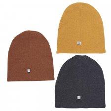 Cappello cuffietta a maglia per bambini in lana e cotone
