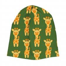 Cappello cuffietta in Ciniglia di cotone biologico Giraffa