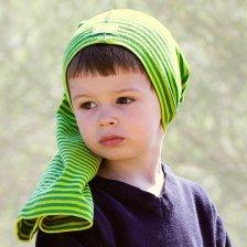 Cappello multiuso a righe colorate in cotone biologico