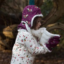 Cappello Sherpa Cavallino per bambine in puro cotone biologico