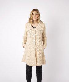 Cappotto a maglia Willow Aran da donna in pura lana