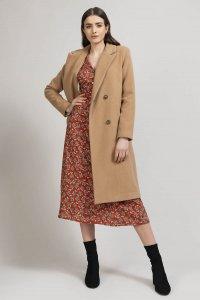 Cappotto doppiopetto ACEROLA in lana, moda etica e sostenibile