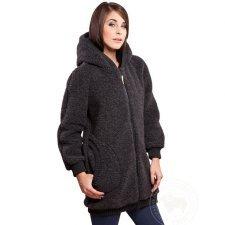 Cappotto in lana donna con cappuccio