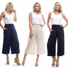 Orientique trousers in linen, cotton and natural viscose