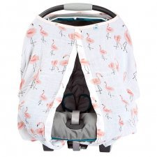 Car seat canopy in cotton muslin Pink Ladies