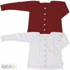Cardigan a maglia Frida per bambine in cotone biologico