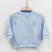 Cardigan azzurro in cotone biologico