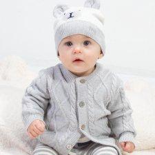 Cardigan baby in cotone bio