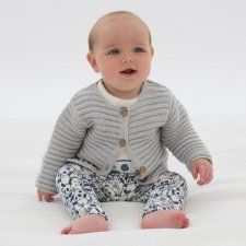 Cardigan baby in cotone biologico