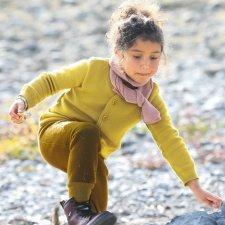 Cardigan per bambine Disana in lana merino biologica