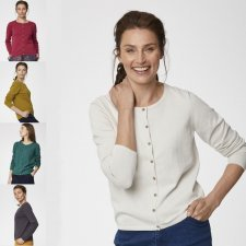Cardigan Bodil da donna in Cotone Biologico