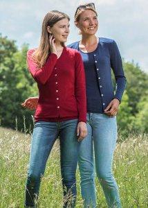 Cardigan donna in lana biologica e seta
