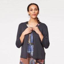 Cardigan Audrey in lana e cotone biologico