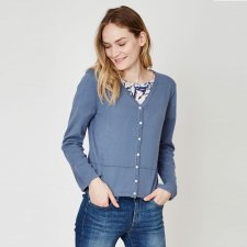 Cardigan Elisse in cotone biologico e lana