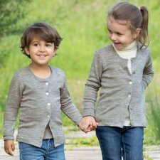 Cardigan Engel children in organic wool and silk