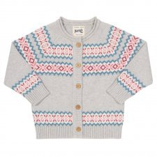 Cardigan bimba Fair Isle in cotone biologico
