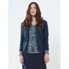 Cardigan in lana e cotone equosolidale