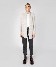 Cardigan lungo Kilcoole Textured da donna in pura lana