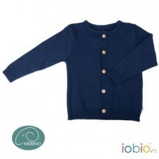 Cardigan Popolini per bambini in pura lana biologica