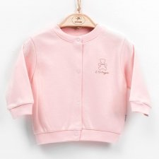 Cardigan rosa in cotone biologico