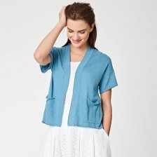 Cardigan Urwin in hemp and organic cotton