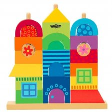 Casa Arcobaleno da impilare in legno