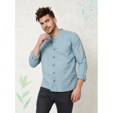 Casual long sleeve shirt in hemp