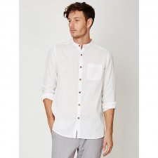 Olsten grandad collar hemp shirt