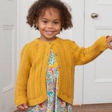 Chevron stitch organic cotton cardigan