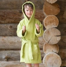 Child bathrobe in organic cotton