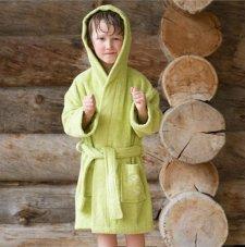 Child bathrobe in organic cotton