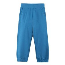 Child blue jogging pants in organic cotton