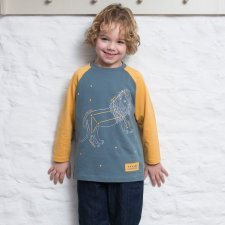 Child Longsleeves shirt organic cotton Leo