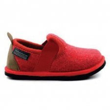 Children slipper Albus Red in felted wool