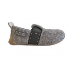 Children Slipper Dobby grey in felted wool
