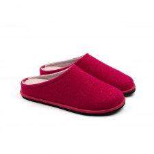 Ciabatte Easy Bicolore CILIEGIA-ROSA in feltro di lana