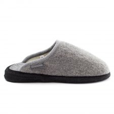 Pantofola Copenaghen Grigia in lana cotta